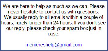 Contact Meniere's Help